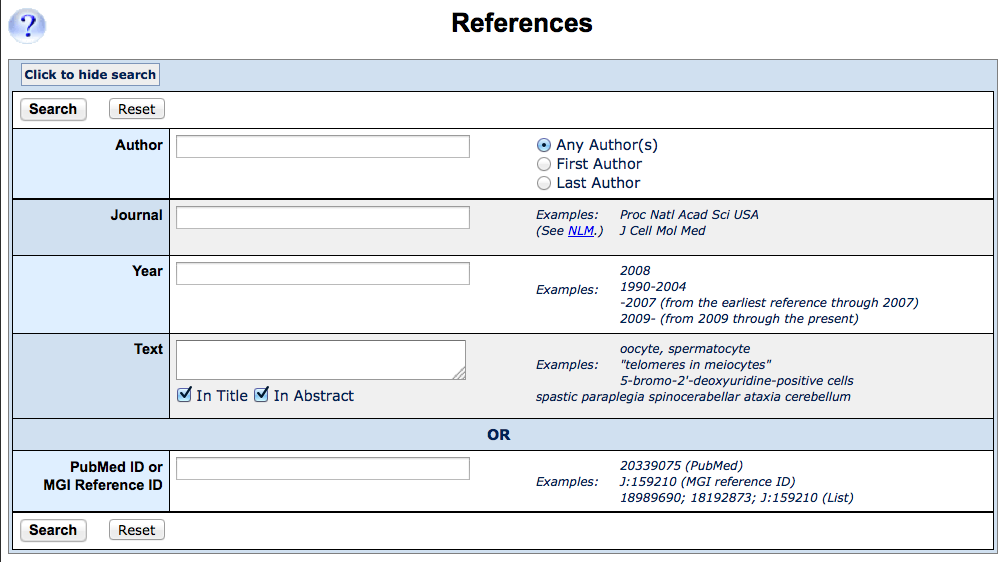 reference query form
