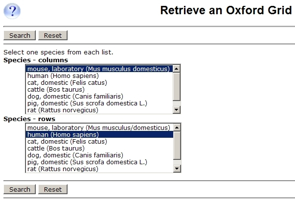 Oxford Grid Query Form