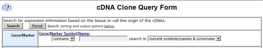cDNA Clones Query Form